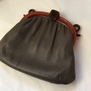 Vintage Art Decco Bakelite/lucite leather bag